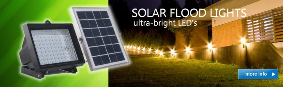 Slide Solar Flood Lights