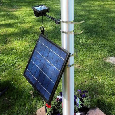 12 LED Commercial Solar Flood Light