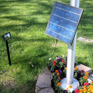 12 LED Commercial Solar Flood Light with ground stake