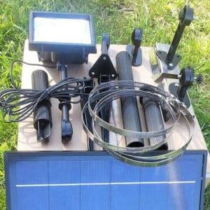 Mounting hardware for 12 LED Commercial Solar Flood Light