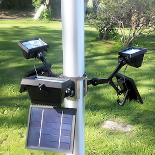 commercial solar flood light flagpole light greenlytes. Black Bedroom Furniture Sets. Home Design Ideas