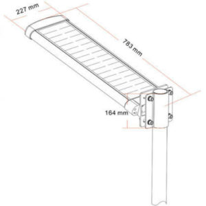 All-In-one LED Solar Street Light dimensions