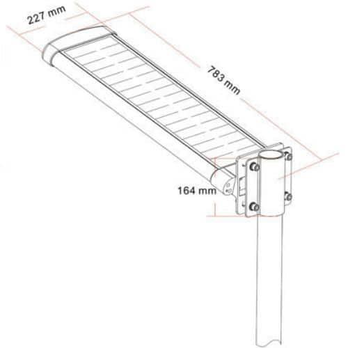 12 watts led solar street light