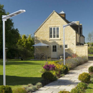 All-In-one LED Solar Street Light in alley