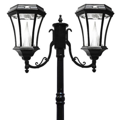 Victorian Solar Lamp Post 2 Heads