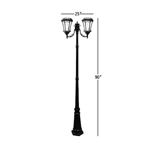 Victorian Solar Lamp Post 2 Heads Gama Sonic Greenlytes
