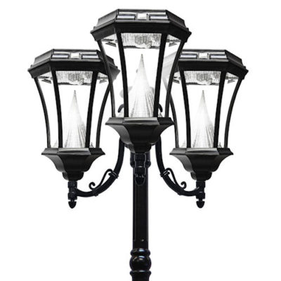 Victorian Solar Lamp Post 3 Heads