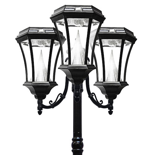 Victorian Solar Lamp Post 3 Heads Gama Sonic Greenlytes