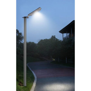 64 LED Commercial Solar Security Light at Night