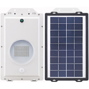64 LED Commercial Solar Security Light Top and Bottom