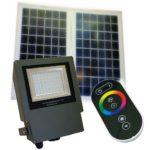 54 LED commercial grade color changing solar flood light