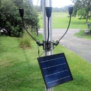 Commercial Solar Flagpole Light 3 units