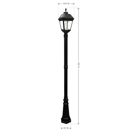 Gama Sonic Imperial Bulb Solar Post Light Greenlytes Store