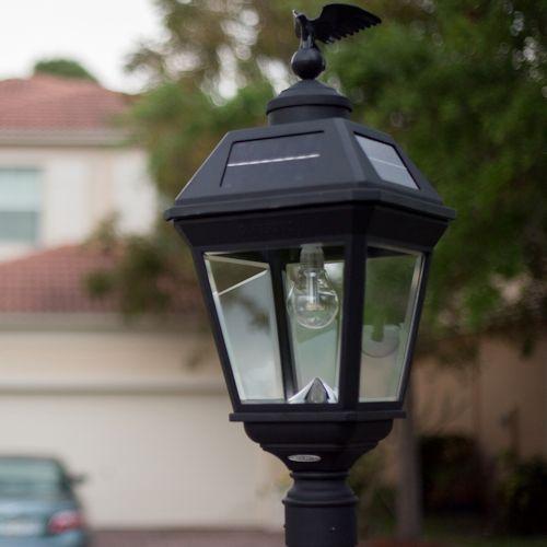 Gama Sonic Imperial Bulb Solar Post Light Greenlytes Store